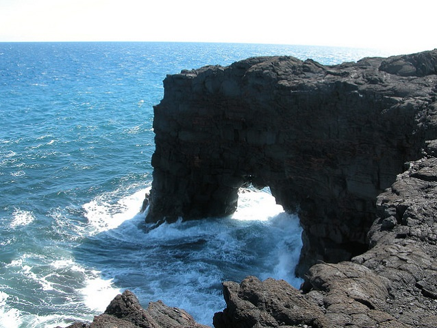 Sea Arch at Hawaii Volcanoes National Park. NPSphoto/DalePate
