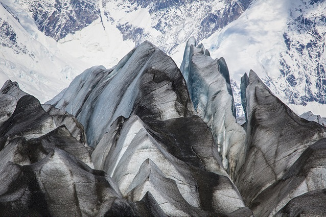 Crevasses on the surface of the Kennicott Glacier (Wrangell-St. Elias National Park, AK)