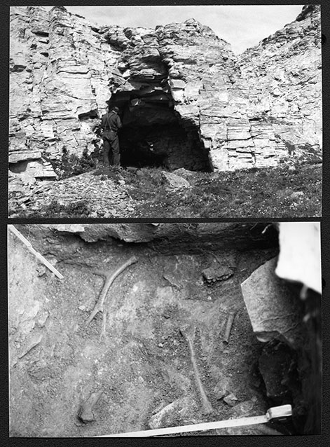 old black and white photos of excavations
