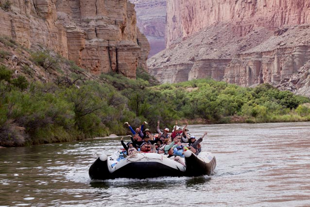 No Barriers Youth participants enjoy rafting in the Grand Canyon