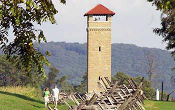 Observation tower Antietam National Battlefield in Marylan