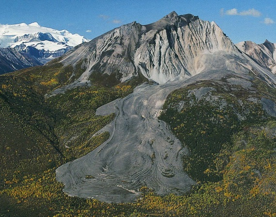 A rock glacier on Sourdough Peak (Wrangell-St Elias National Park, AK)