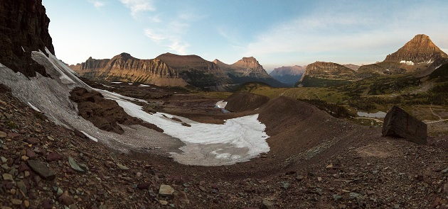 An old terminal moraine on the Clemets Glacier (Glacier National Park, MT)