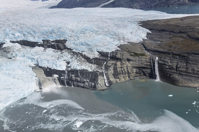 Cloudy water comes of the Guyot Glacier terminus in Icy Bay (Wrangell-St Elias National Park, AK)