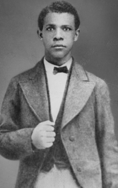 Photo of Booker T. Washington as a student at Hampton Normal and Agricultural Institute, c. 1873.