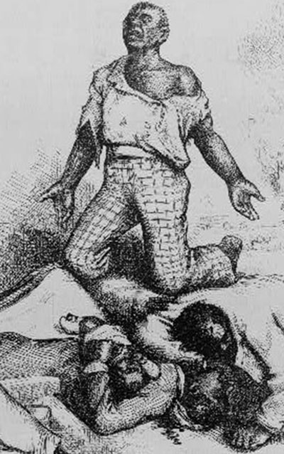 Thomas Nast cartoon condemning disenfranchisement of African Americans