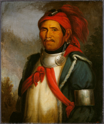 Portrait of Shawnee religious leader Tenskwatawa