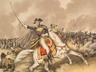 General Andrew Jackson on a white horse, victorious at the Battle of New Orleans