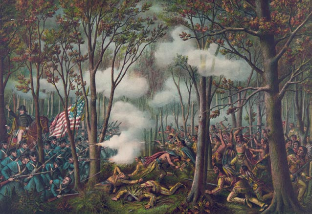 Painting of the Battle of Tippecanoe