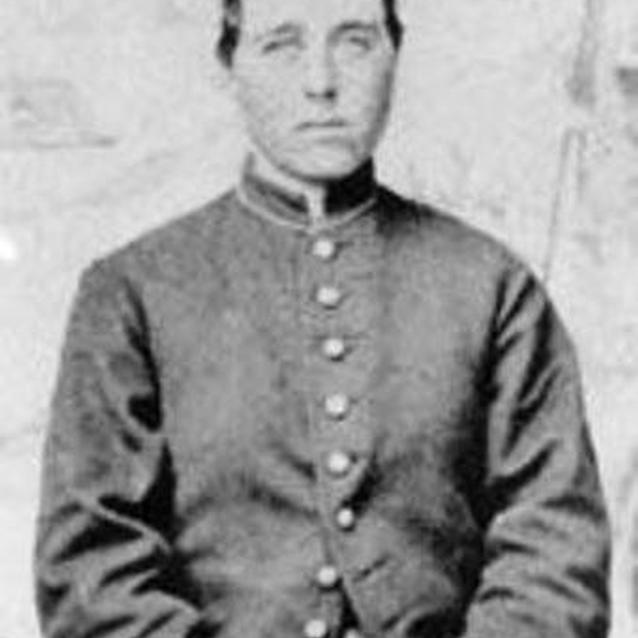 Photo of Jennie Hodgers in her uniform as Private Albert Cashier