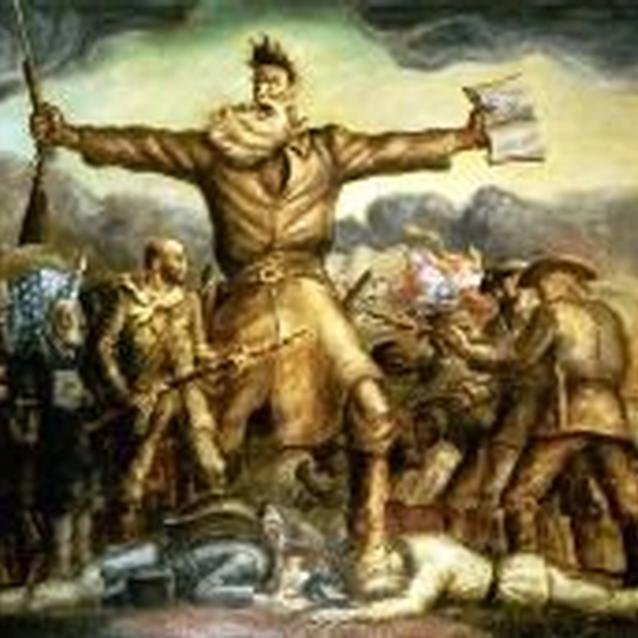"""Tragic Prelude"", a painting by John Steuart Curry, depicts John Brown leading the anti-slavery movement in the Kansas Territory before the Civil War."