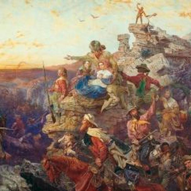 the war and westward expansion u s national park service  painting westward the course of empire takes its way showing settlers moving into the american west