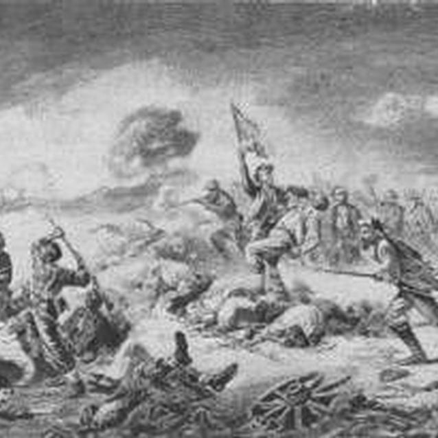 Lithograph of the Battle of the Crater