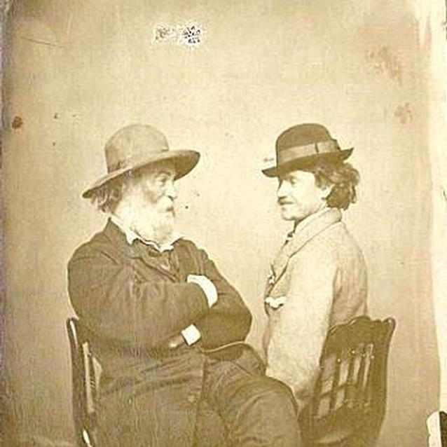 Photo of Walt Whitman and Pete Doyle