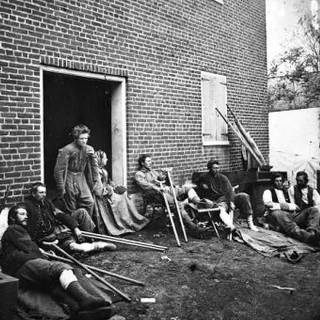 Photo of wounded soldiers