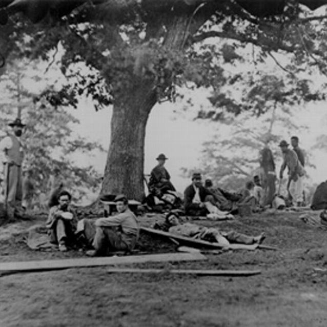 Photograph of wounded soldiers