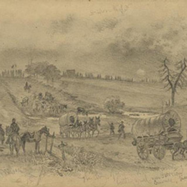 Sketch of the Union marching over to Groveton