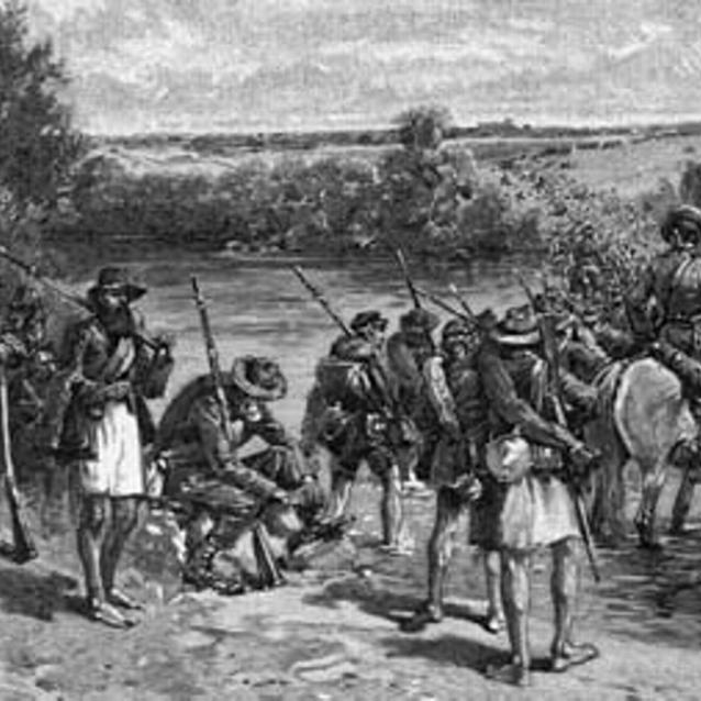 Sketch of Jackson's men over the Potomac