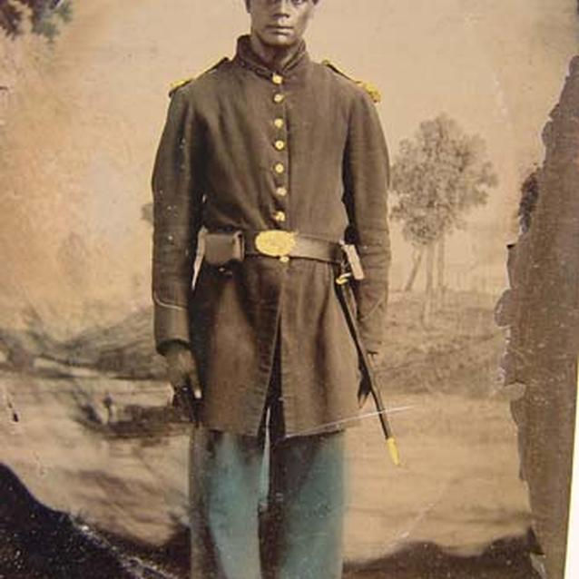 Photograph of unidentified African American soldier