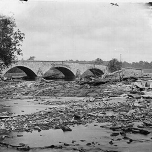 Photograph of the Antietam Bridge on the Sharpsburg-Boonsboro Turnpike