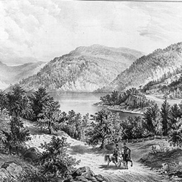 Sketch of the Potomac Near Harpers Ferry