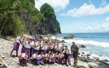 Siliaga Elementary School students and Park Ranger Pua Tuaua