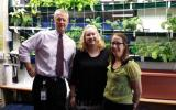Principal-Dr. Russell Moore, Teacher-Kathy Peterson, and Librarian Judi Stott