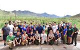 Group photo of local high school students, Congressman Raul Grijalva, and park staff