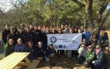 AmeriCorps volunteers convene for group photo