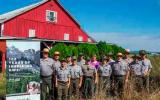 Park staff pose for a picture at the historic George Bishop farm.