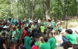 Students listening to a Ranger program.
