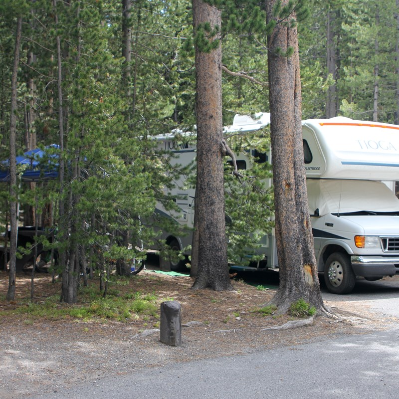 RV at campsite