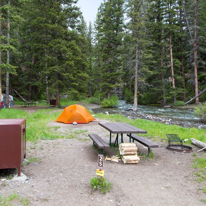 Pebble Creek Campground - Yellowstone National Park (U S