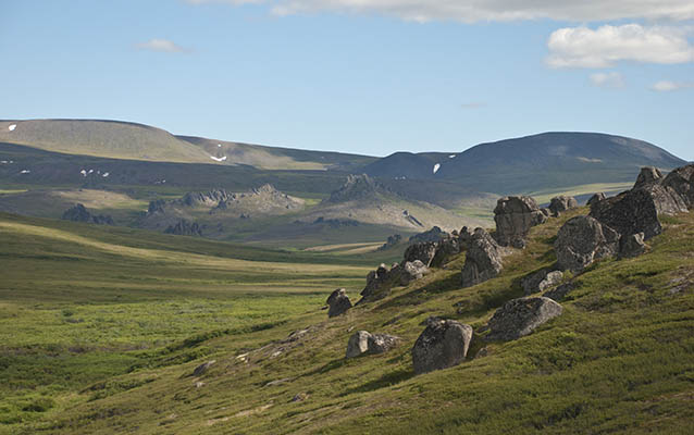 Tors at Serpentine Hot Springs are shaped by the forces of erosion