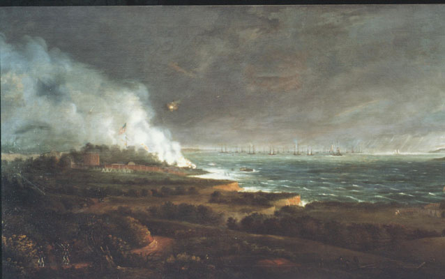 The British bombardment of Fort McHenry