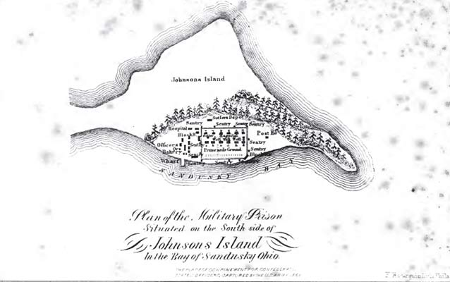 Map of military prison on Johnson's Island