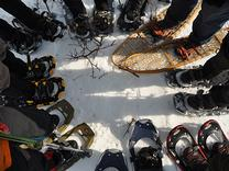 Borrow our snowshoes!