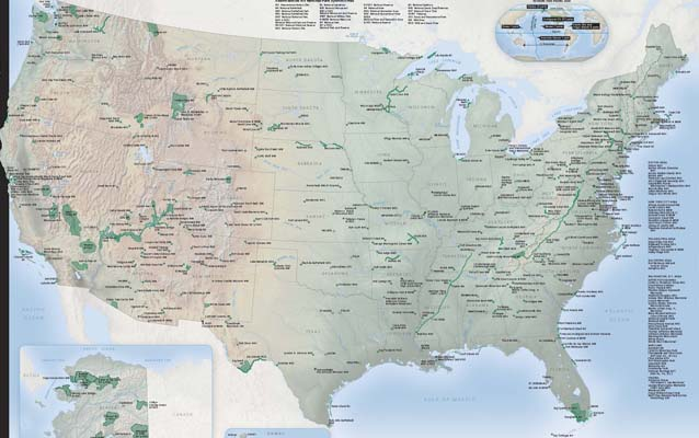 National Park System Map and Guide