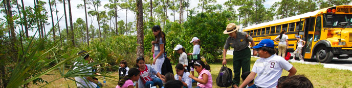 Students on a field trip