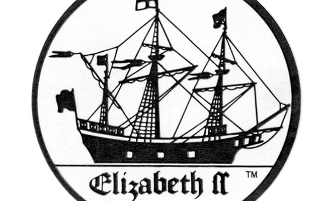 The Elizabeth II, one of seven ships that sailed on the 1584 journey to Roanoke Island