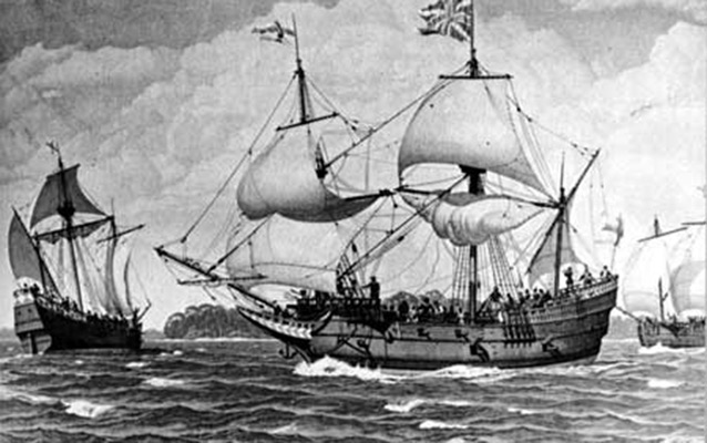 A British ship on its way to America
