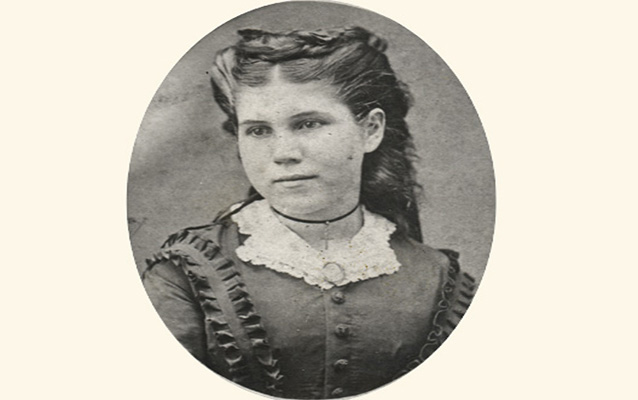 Carrie Berry as a young girl