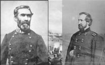 Generals Braxton Bragg and William S. Rosecrans