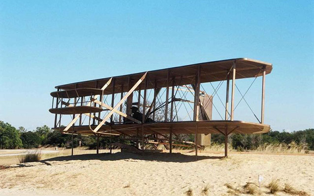 Replica of Wright Brothers 1903 Airplane