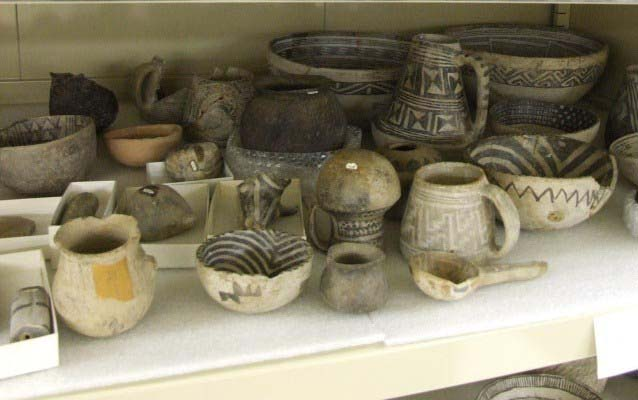 Pottery in Museum Storage at Aztec Ruins