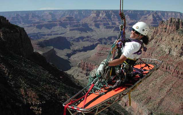 Search and Rescue Rangers risk their lives to save lives at Grand Canyon National Park.