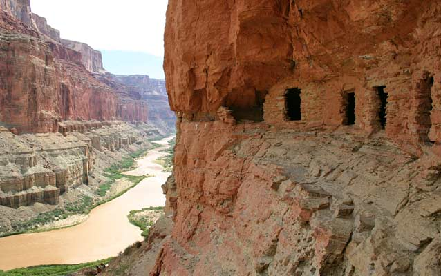 Prehistoric granaries along the Colorado River