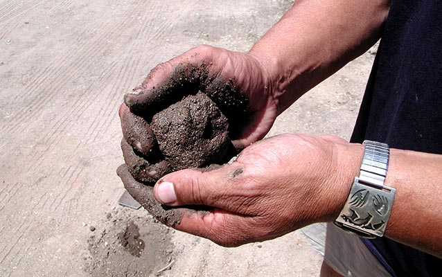 Ball of adobe mud