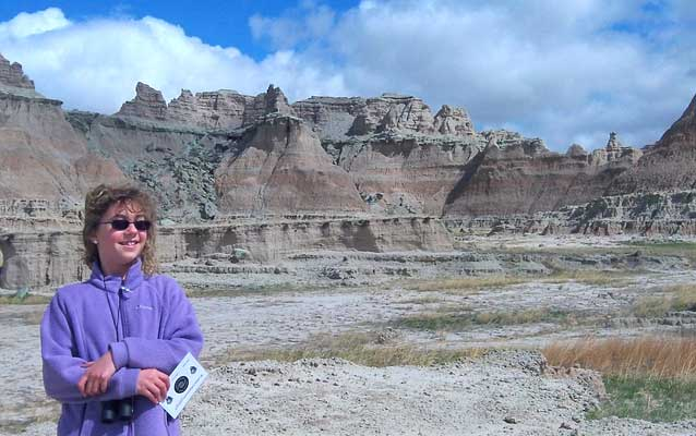 Student from Interior School at Badlands National Park