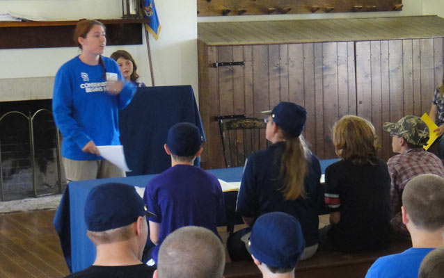 Students reenacting courtroom program